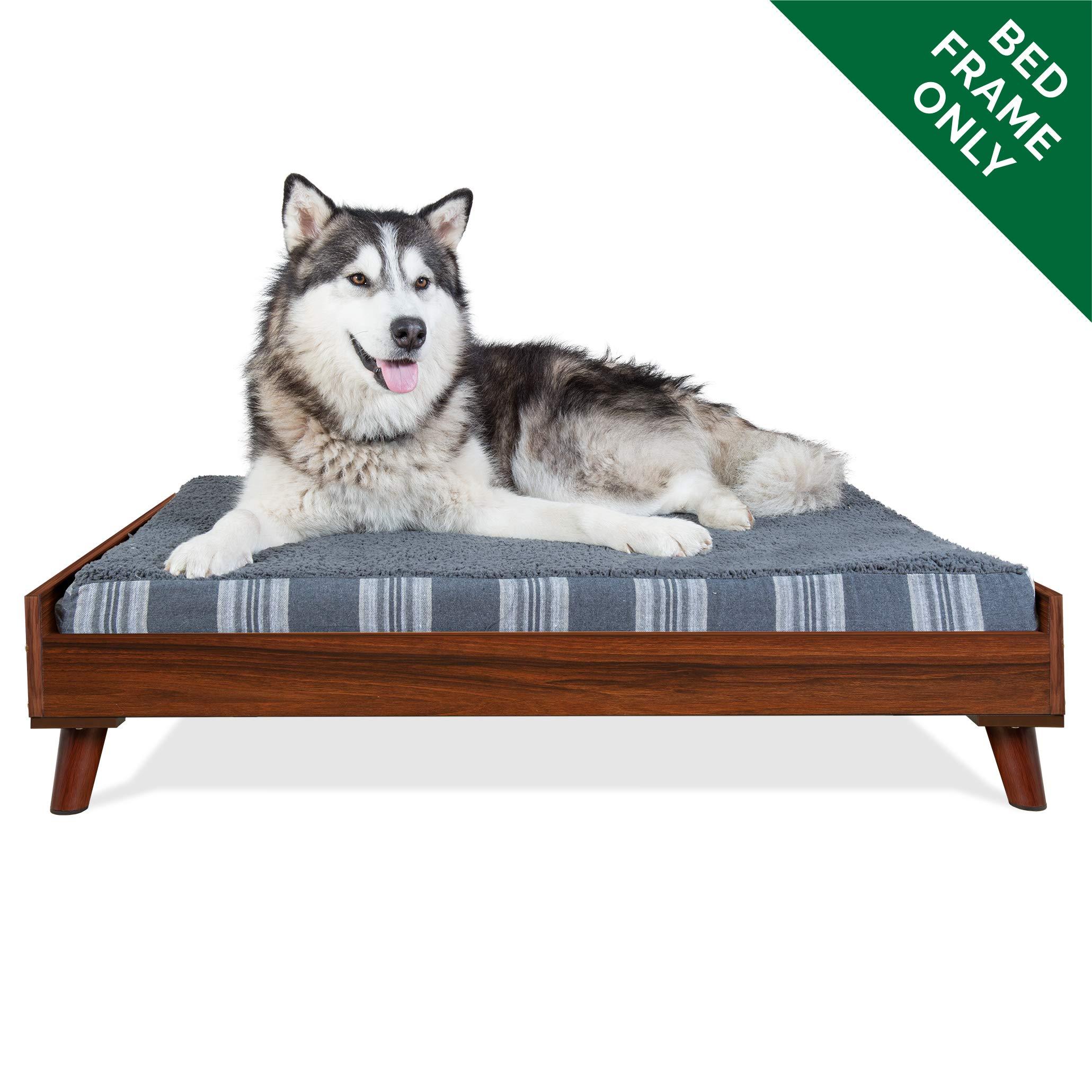 FurHaven Pet Bed Frame   Bed Frame for Pet Beds & Mattresses, Walnut, Jumbo