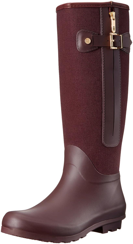 Tommy Hilfiger Women's Mela Rain Boot B01F9I6HD6 8 B(M) US|Wine