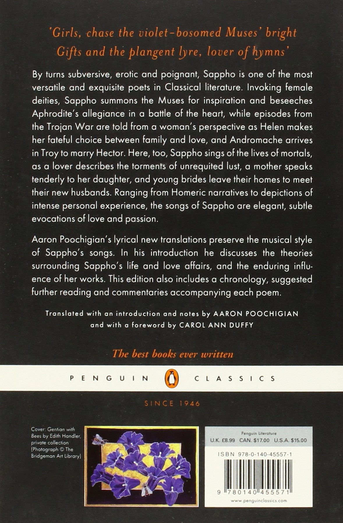Stung with love poems and fragments penguin classics sappho stung with love poems and fragments penguin classics sappho aaron poochigian carol ann duffy 9780140455571 amazon books fandeluxe Gallery