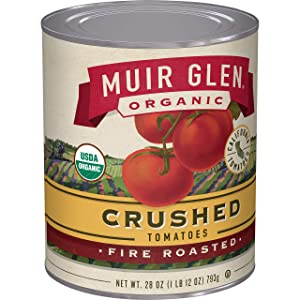 Muir Glen Organic Crushed Fire Roasted Tomatoes, 28 oz (Pack of 12)