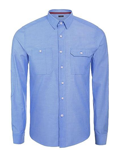 bdc7ecba6744 COOFANDY Men s Casual Solid Oxford Slim Fit Dress Shirts Cowboy Cut ...