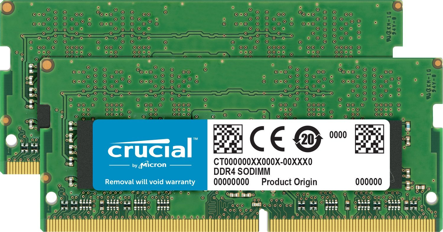 Crucial 32GB Kit (16GBx2) DDR4 2400 MT/s (PC4-19200) DR x8 SODIMM 260-Pin for Mac - CT2K16G4S24AM by Crucial