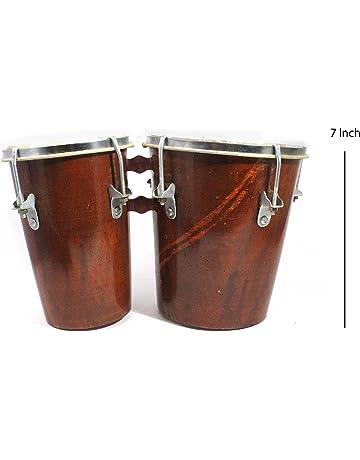 Hecho a mano tallada de madera profesional Mini Bongo Drum Set para aprender y jugar Multi