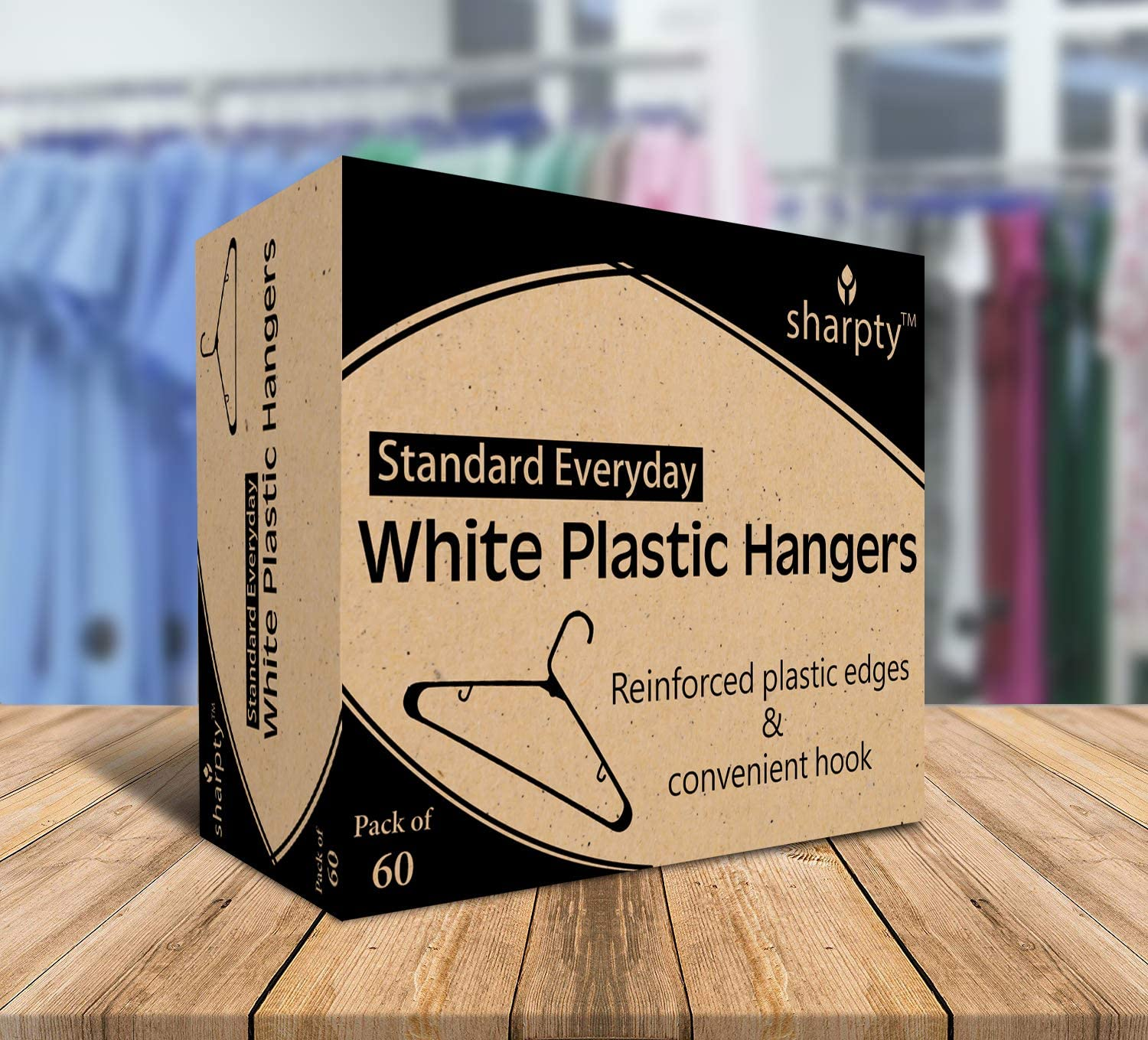 Clothing Hangers Sharpty White Plastic Hangers 20 Pack Plastic Clothes Hangers Ideal for Everyday Standard Use