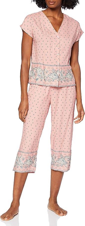 Pijama Camisero Estampado Largo Capri: Amazon.es: Ropa y ...