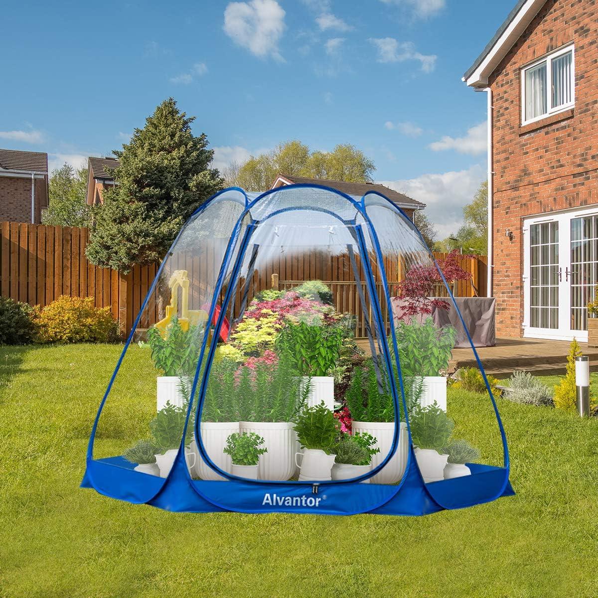 Alvantor Screen House Room Camping Tent Outdoor Canopy Dining Gazebo Pop Up Sun Shade Hexagon Shelter Mesh Walls Not Waterproof 10x10 Beige Patent
