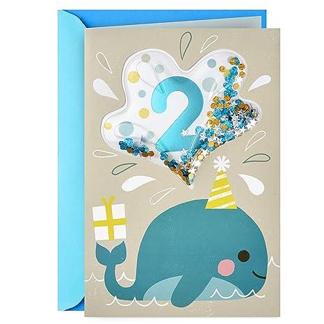 Amazon.com: Hallmark Tarjeta de 2º cumpleaños (2 años de ...
