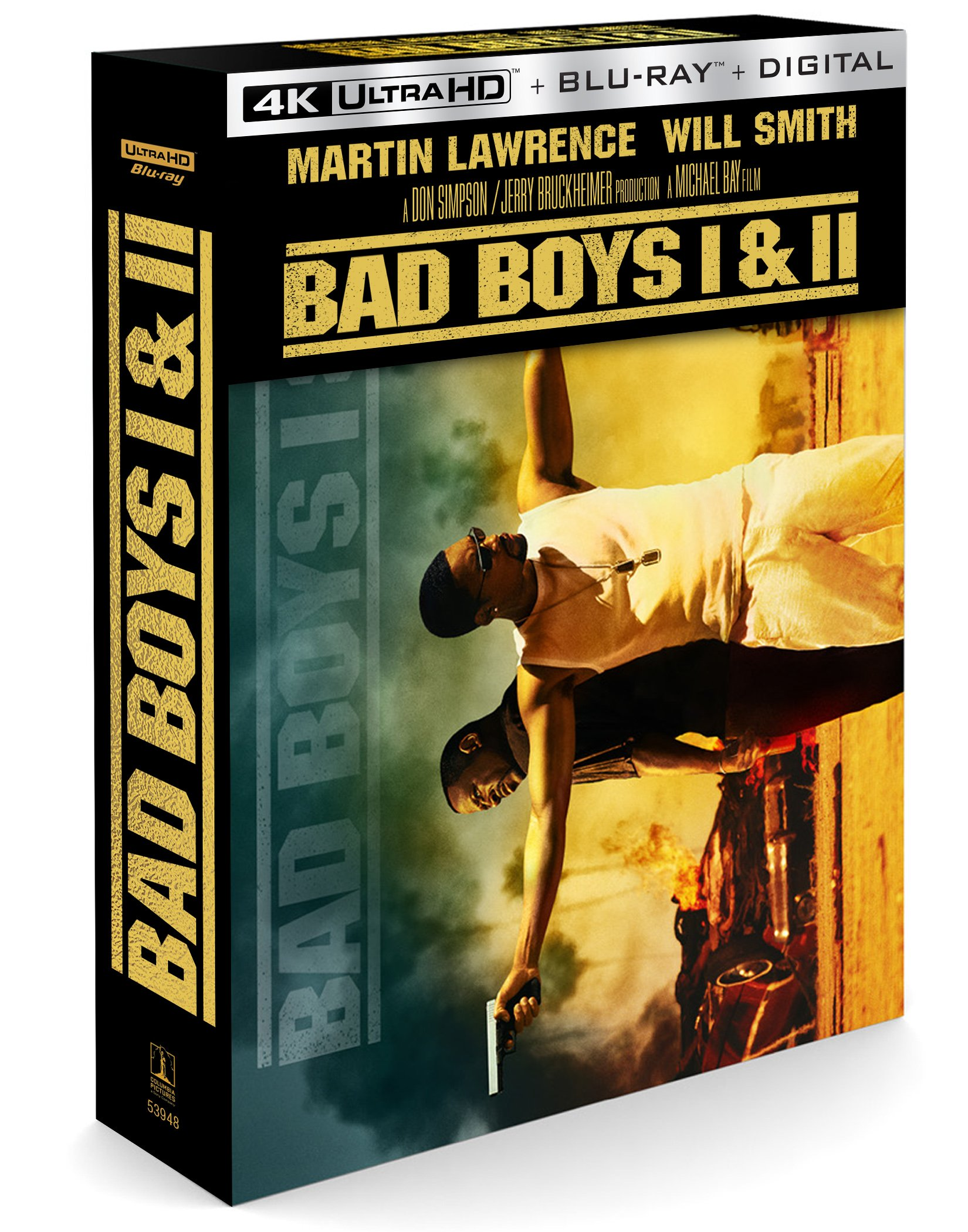 DVD : Bad Boys / Bad Boys Ii (With Blu-Ray, 4K Mastering, Boxed Set, Digital Copy, 4PC)