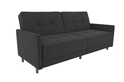 dhp andora coil futon with mid century modern design   grey linen amazon    dhp andora coil futon with mid century modern design      rh   amazon