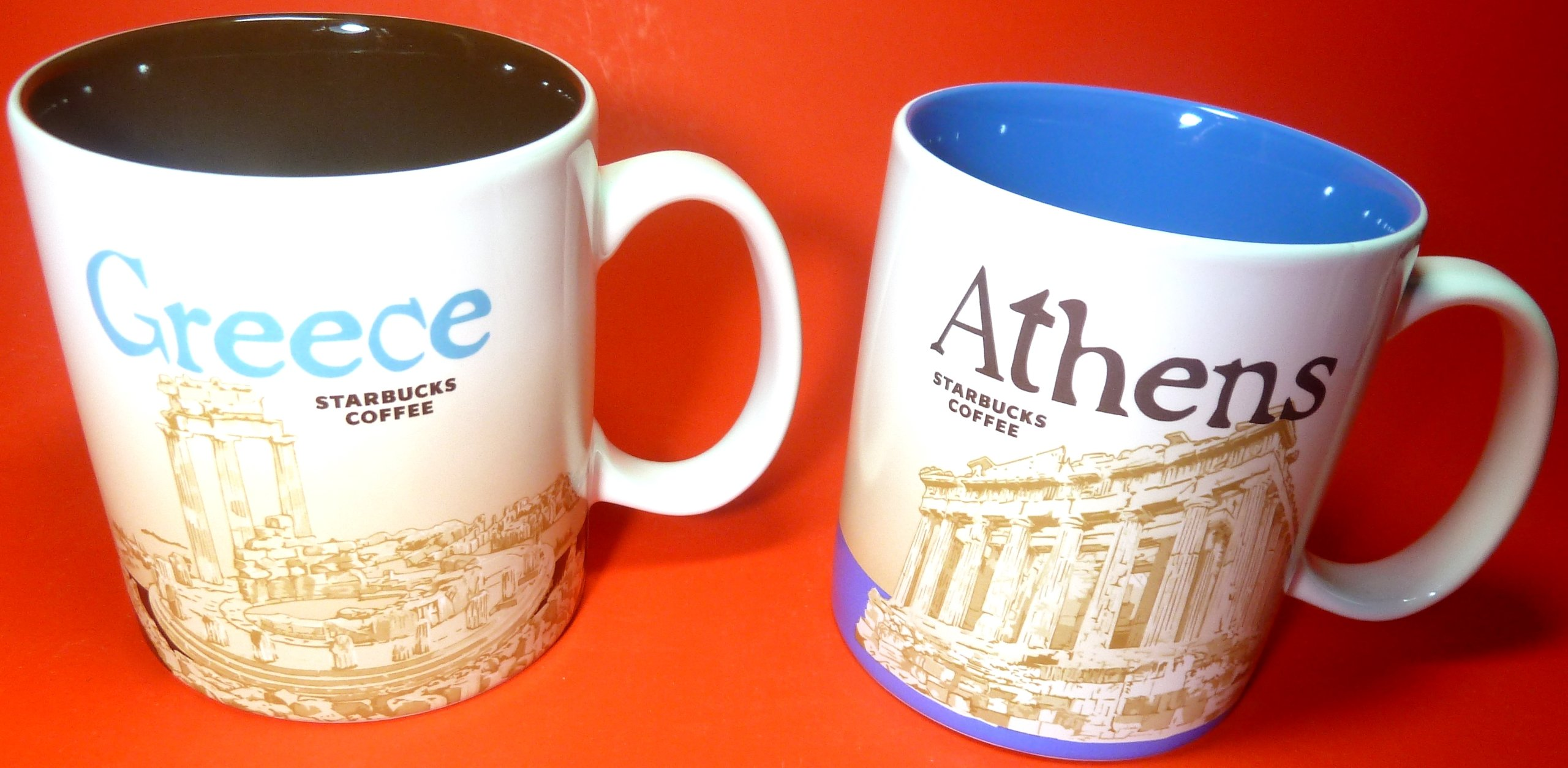 Starbucks 2 Global City Mugs 2013 - Greece , Athens , Brand New, 16 FL OZ/473 ML, Original, Collectibles, Coffee Mugs For Country & Capital
