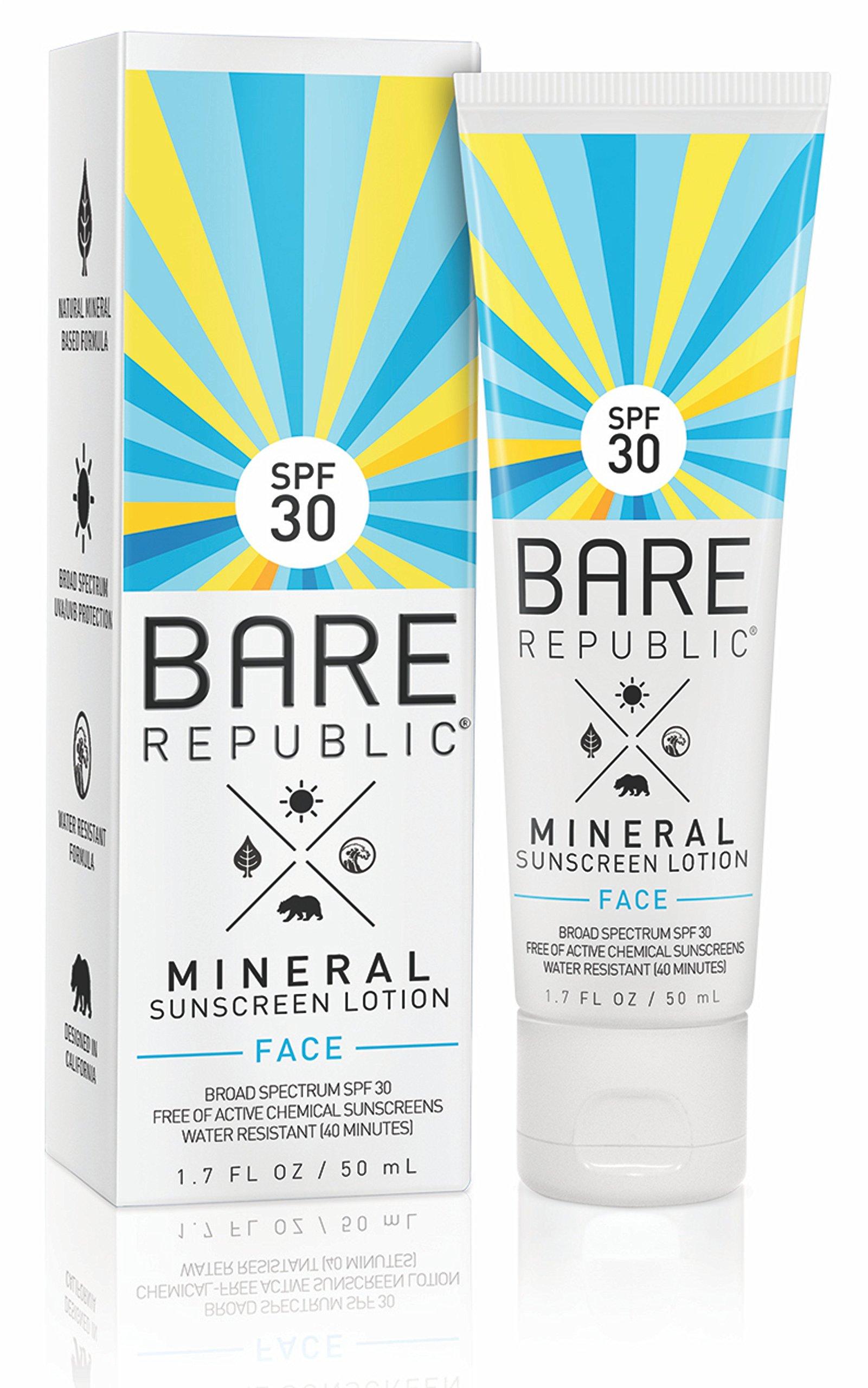 Bare Republic Mineral Face Sunscreen Lotion SPF 30 1.7oz