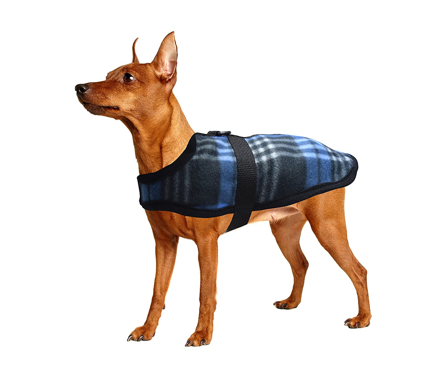 bluee XX-Small bluee XX-Small All Seasons Puppy Fleece Jacket for Toy Dogs and Puppies for Outfits for Boy Dogs (2X Small bluee)