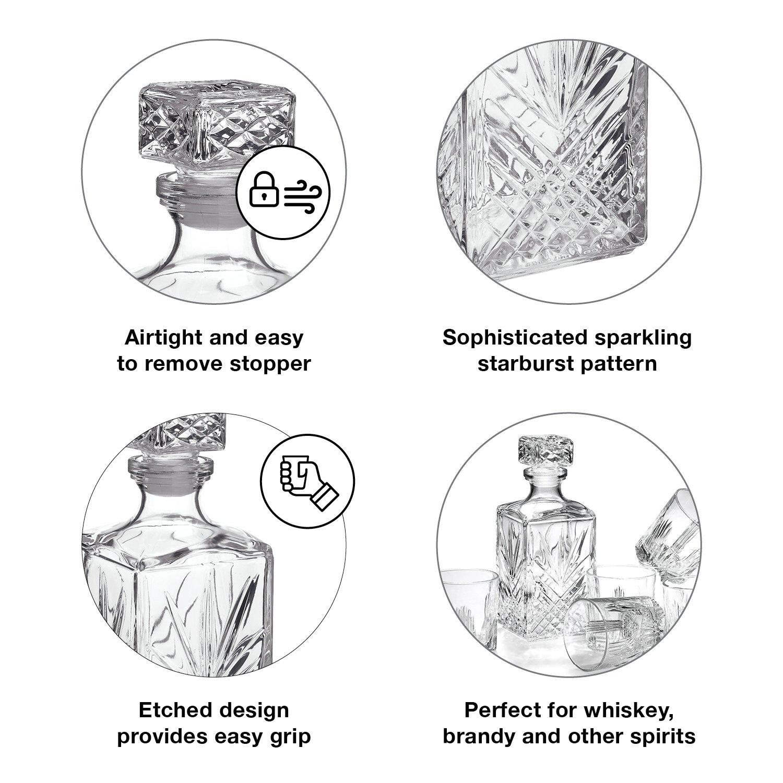 Bormioli Rocco Selecta 7-Piece Whiskey Gift Set, Frustration Free Packaging by Bormioli Rocco (Image #4)