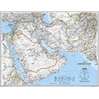Middle East, Tubed: Wall Maps Countries & Regions