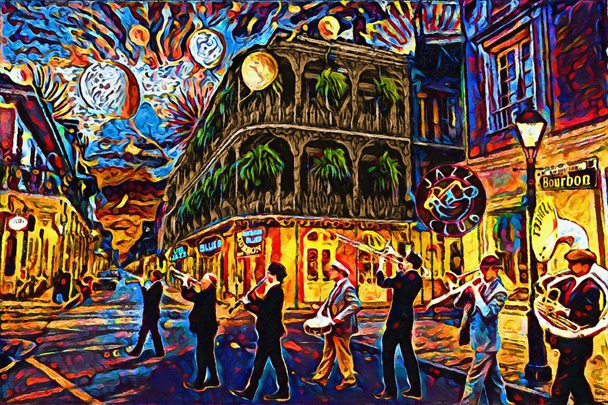 Castle & Rye New Orleans Art Photo Quality Poster Print for Living Room or Bedroom Wall