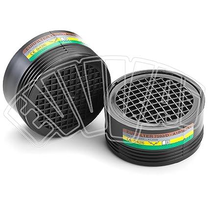 2 unidades – Filtro A1-B1/e1-k1 – Máscara Protección – Máscara