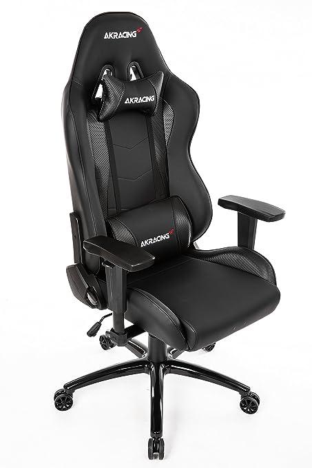 Akracing Nitro Chaise De Gaming Faux Cuir Noir Carbone 52 X 55 X