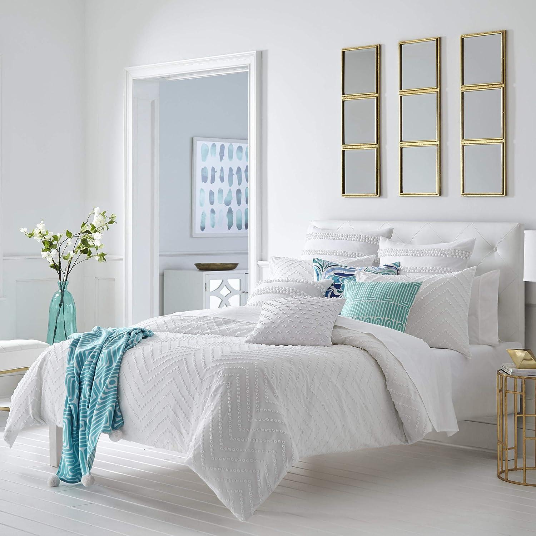 Amazon Com Trina Turk Freya Duvet Cover Set Full Queen White Home Kitchen