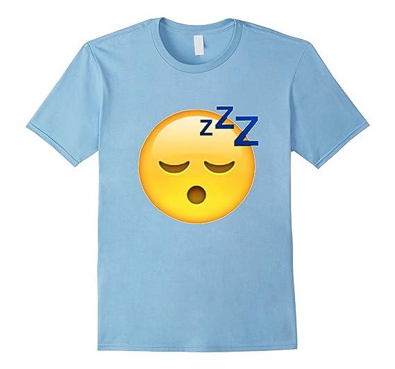Men's Sleeping Face Snoring Emoji T Shirt Men Women & Kids 3XL Baby Blue