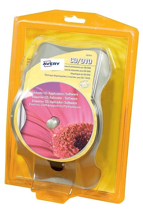 17 opinioni per Avery AB1900 Kit di Etichettatura per CD/DVD, Versione Light, Bianco