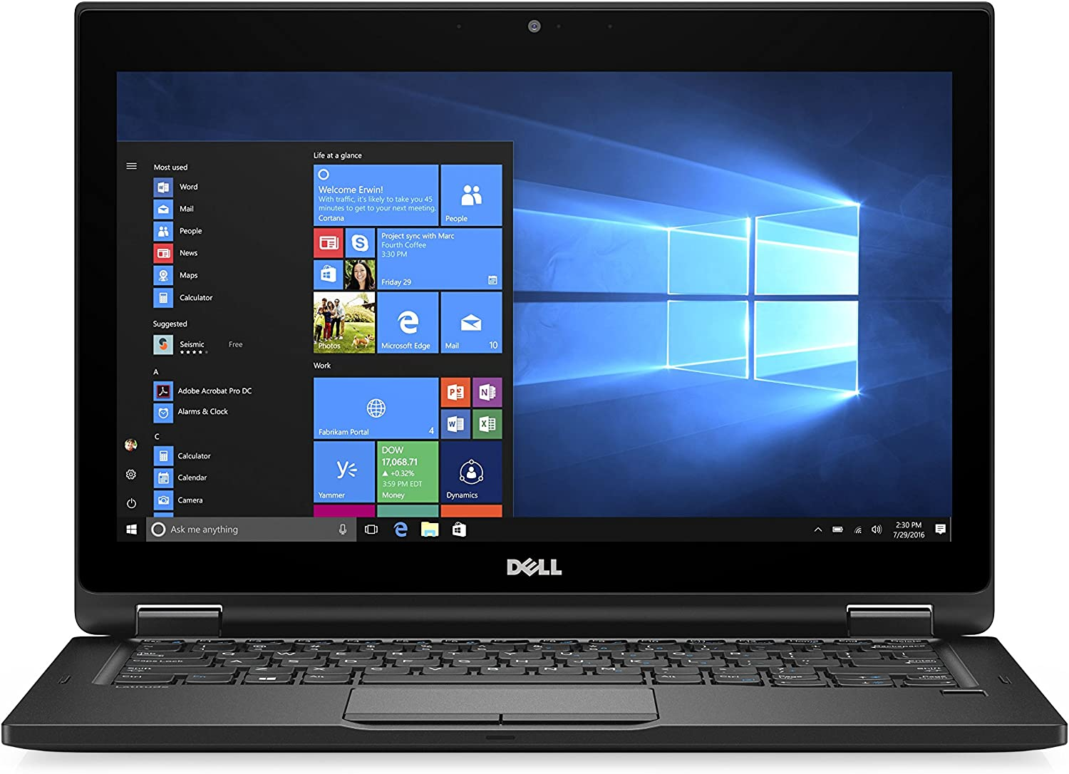 "Dell 99WF7 Latitude 5289 12.3"" FHD Laptop (Intel Corei5-7300U, 8GB DDR4, 256GB Solid State Drive, Windows 10 Pro)"