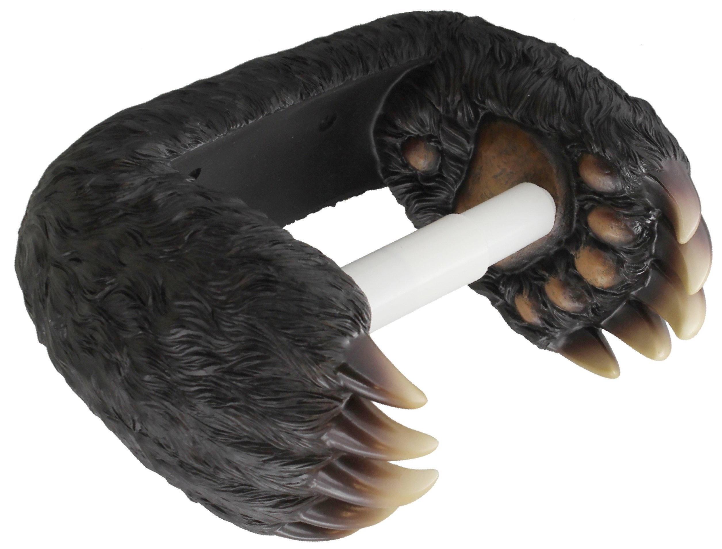 Bear Paw Toilet Paper Holder - Decorative Black Bear Claw Decor