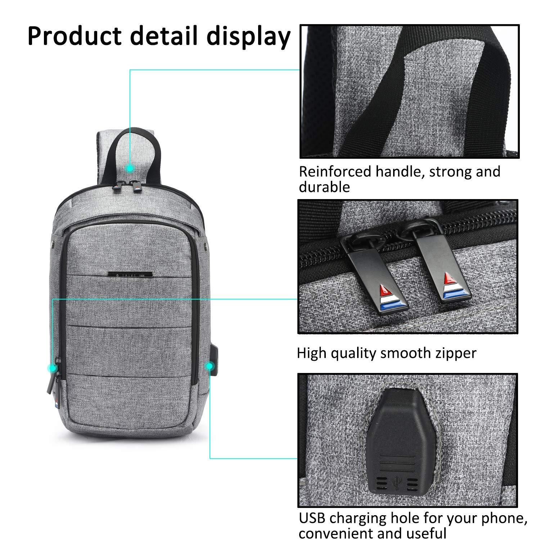 FANDARE Unisexo Bolso de Pecho 7.9 Inch iPad Sling Bag Hombre Bolso de Crossbody Mujer Outdoor Viaje Sport Riding Camping Bolso de Hombro Impermeable Poli/éster Azul