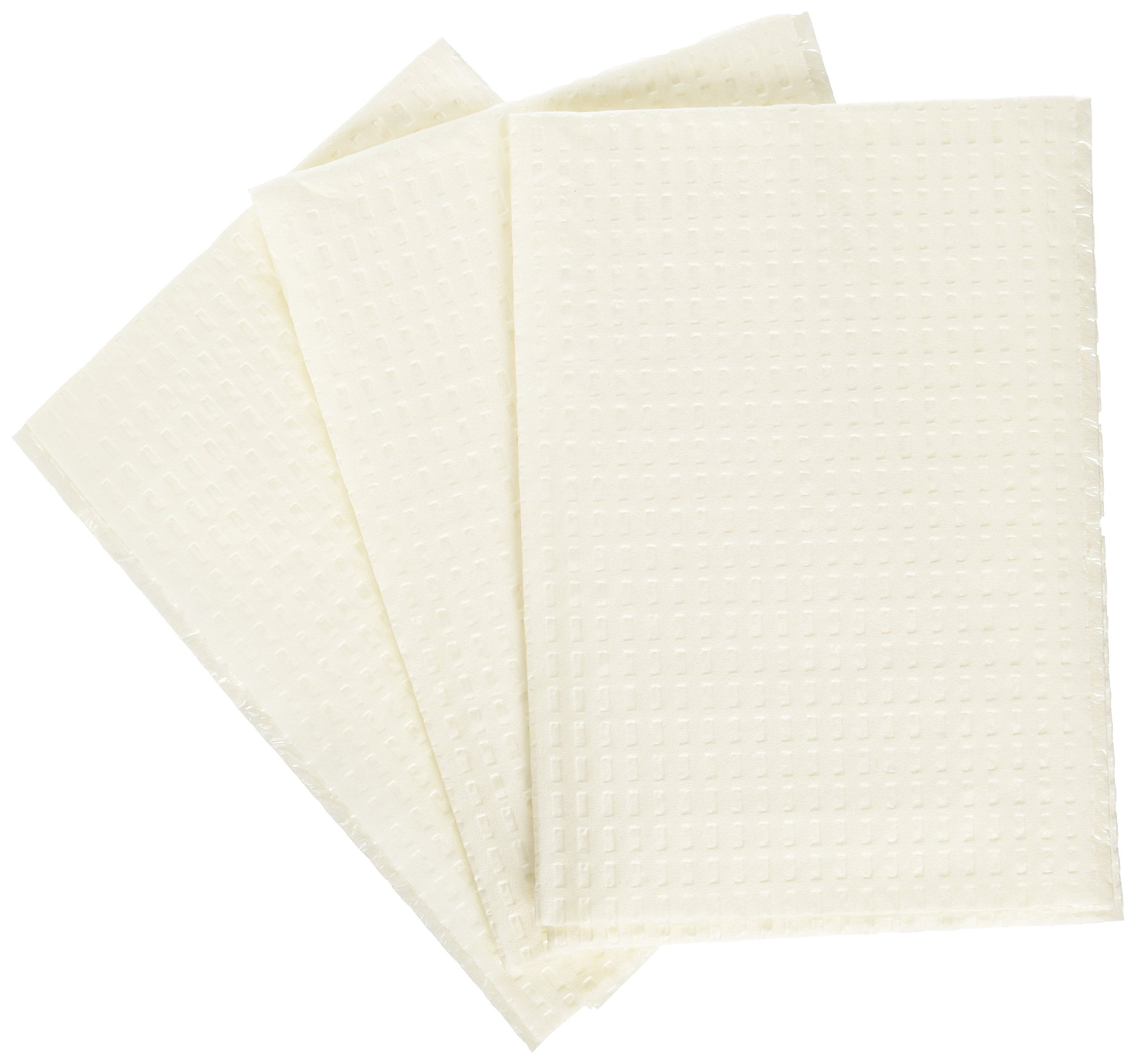 Medline NON24356W 2-Ply Tissue/Poly Professional Towels, 13'' x 18'', White (Pack of 500)