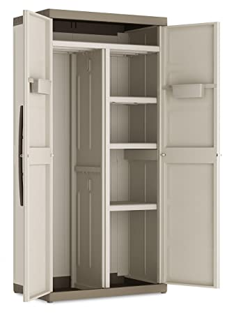 Kis Armadio In Resina Serie Excellence.Keter Armadio Portascope Xl Excellence Kis Beige Sabbia 89x54x182 Cm