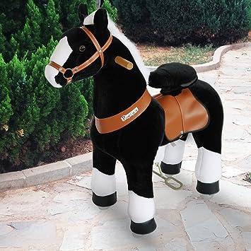 Pony Cycle® Shop Original caballo marrón claro, Pony sobre ruedas fahrendes caballo balancín y peluche para su hijo blanco mas caballo pequeño n3182: ...
