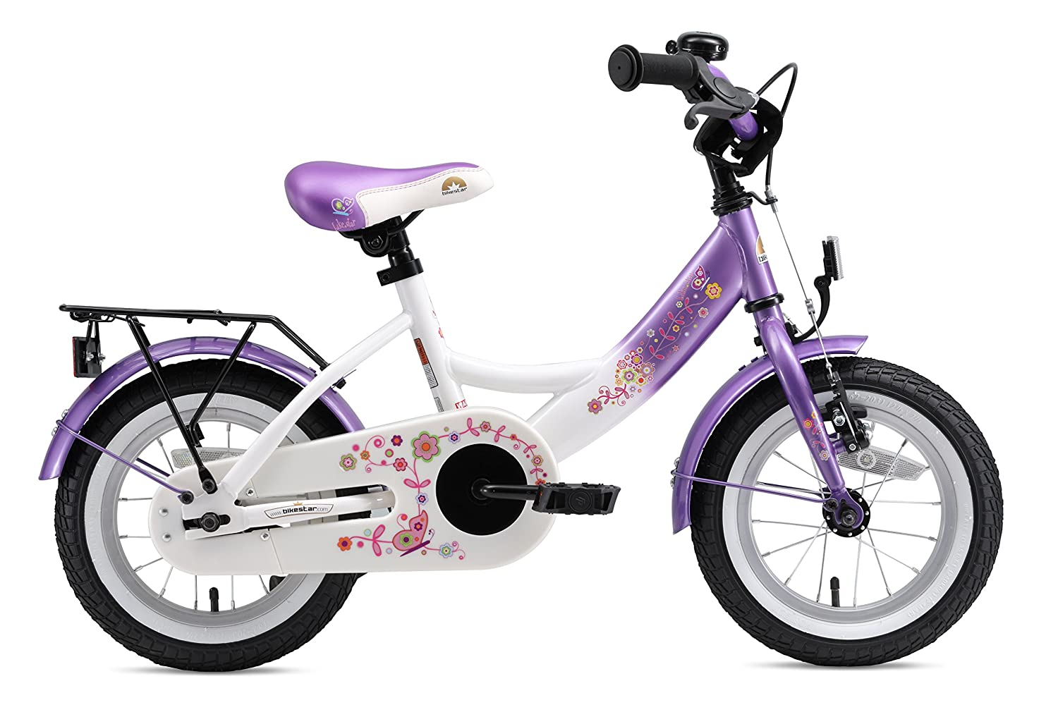 BIKESTAR Safety Sport Kids Bike Bicycle with sidestand and Accessories for Kids Age 3 Year Old Children 12 Inch Classic Edition for Boys and Girls