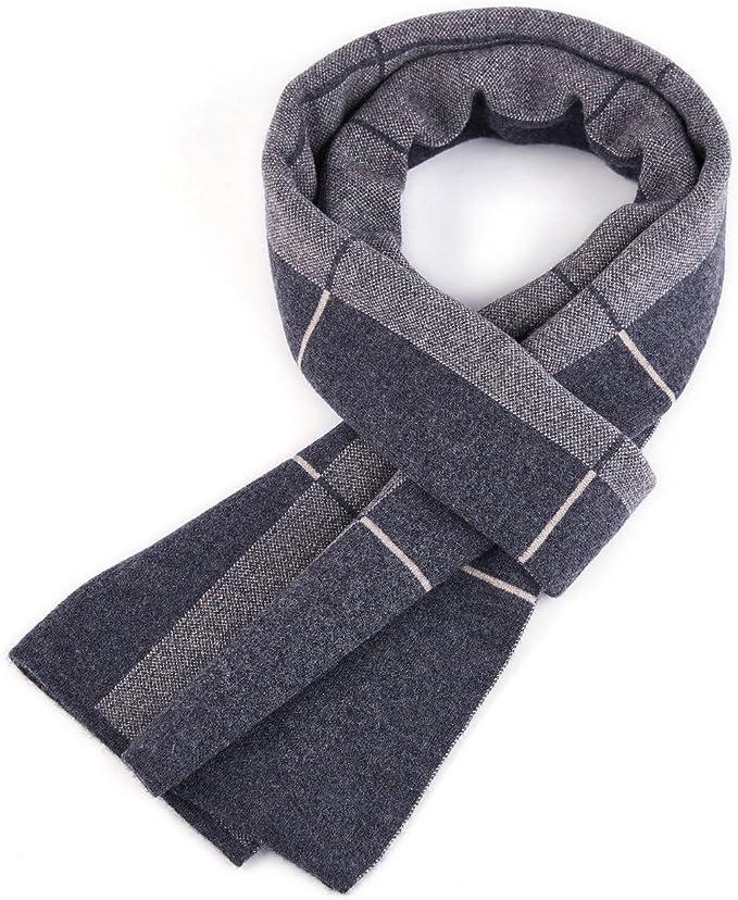 RIONA Sciarpa Uomo Giovane Autunno Inverno 100/% Lana Sciarpa Morbido Casual Business 180 30 cm