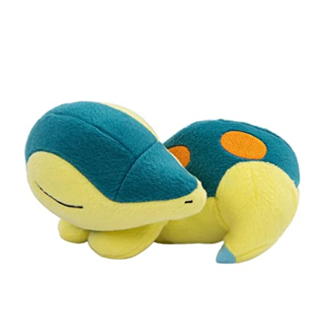 TOMY Pokemon Plush Figure Sleeping Cyndaquil 16 cm Peluches