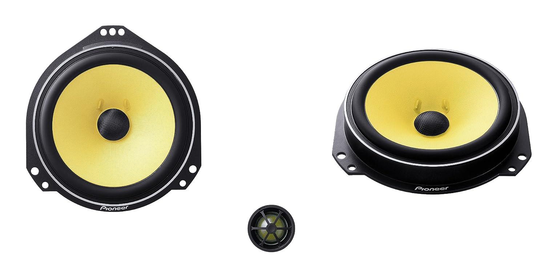 Pioneer TS-Q 172 C - Altavoces para coche de 220 W, amarillo TS-Q172C
