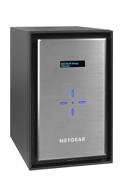 TALLA Sin discos. Netgear ReadyNAS RN528X00-100NES - Dispositivo de almacenamiento en red (528X, Dual Core, 8 bahías, hasta 40 TB de almacenaje ampliables a 90 TB, 2 puertos de cobre de 10 Gigabit Ethernet, sin discos)