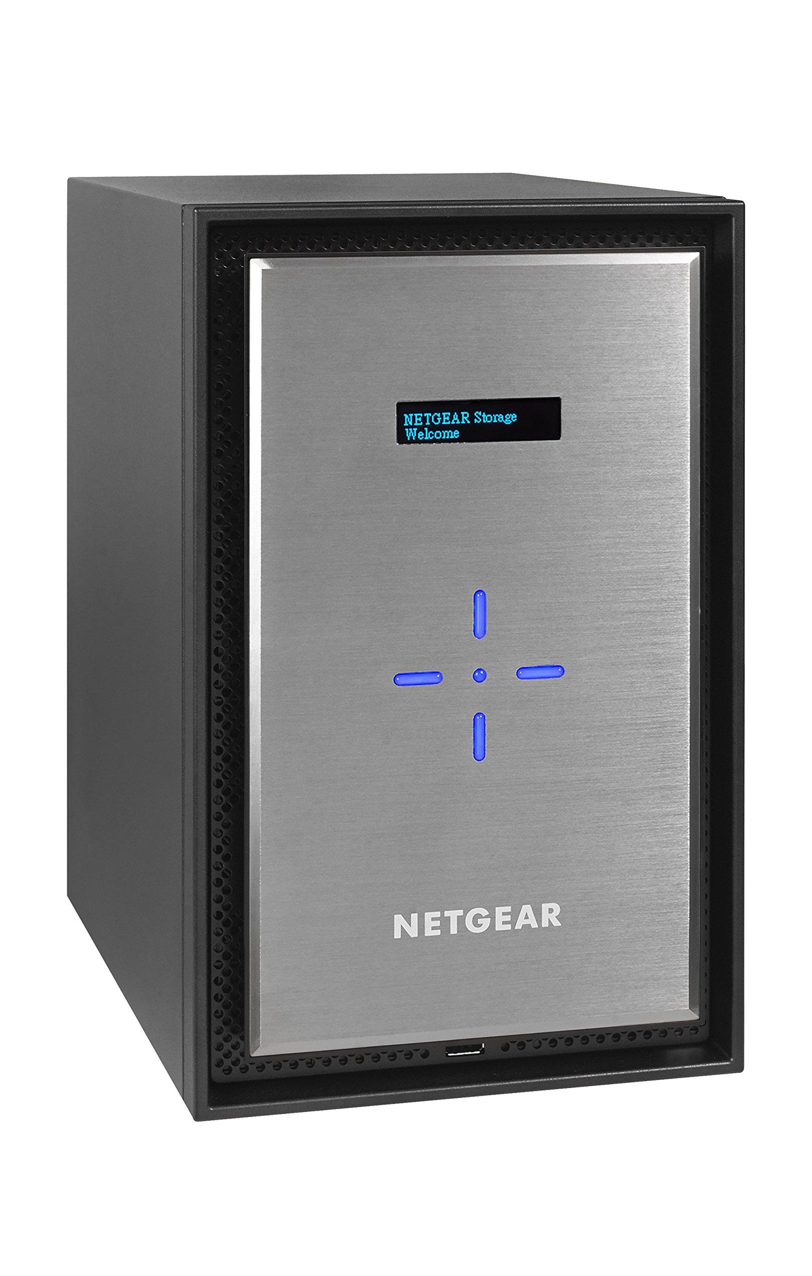 NETGEAR ReadyNAS RN628X 8 Bay Diskless Ultimate Performance NAS, 80TB Capacity Network Attached Storage, Intel Xeon 2.2GHz Quad Core Processor, 8GB RAM, RN628X00-100NES
