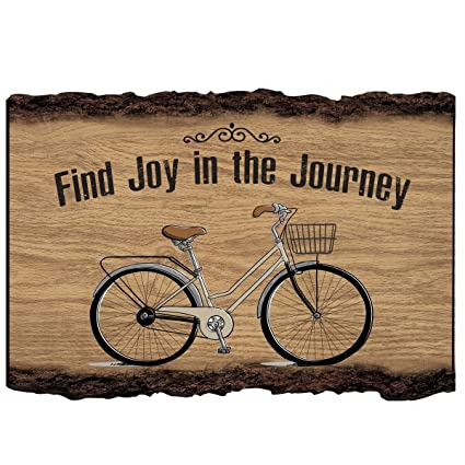 Find Joy In The Journey Bicycle Wall Art Decor Print Quote Bike Decor For  Husband Wife