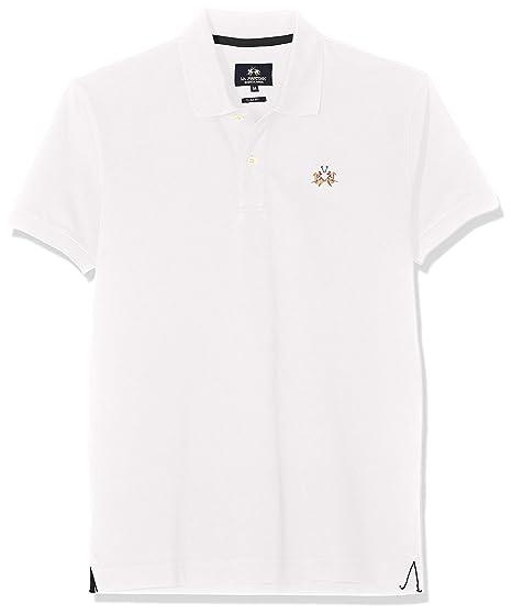 d2e82a7f35 La Martina Men's Man Polo S/S Piquet Str Shirt: Amazon.co.uk: Clothing