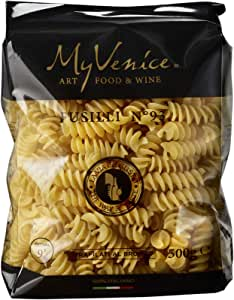 MyVenice Fusilli n°93, Pasta de trigo duro 100% italiano - 16 paquetes de 500g