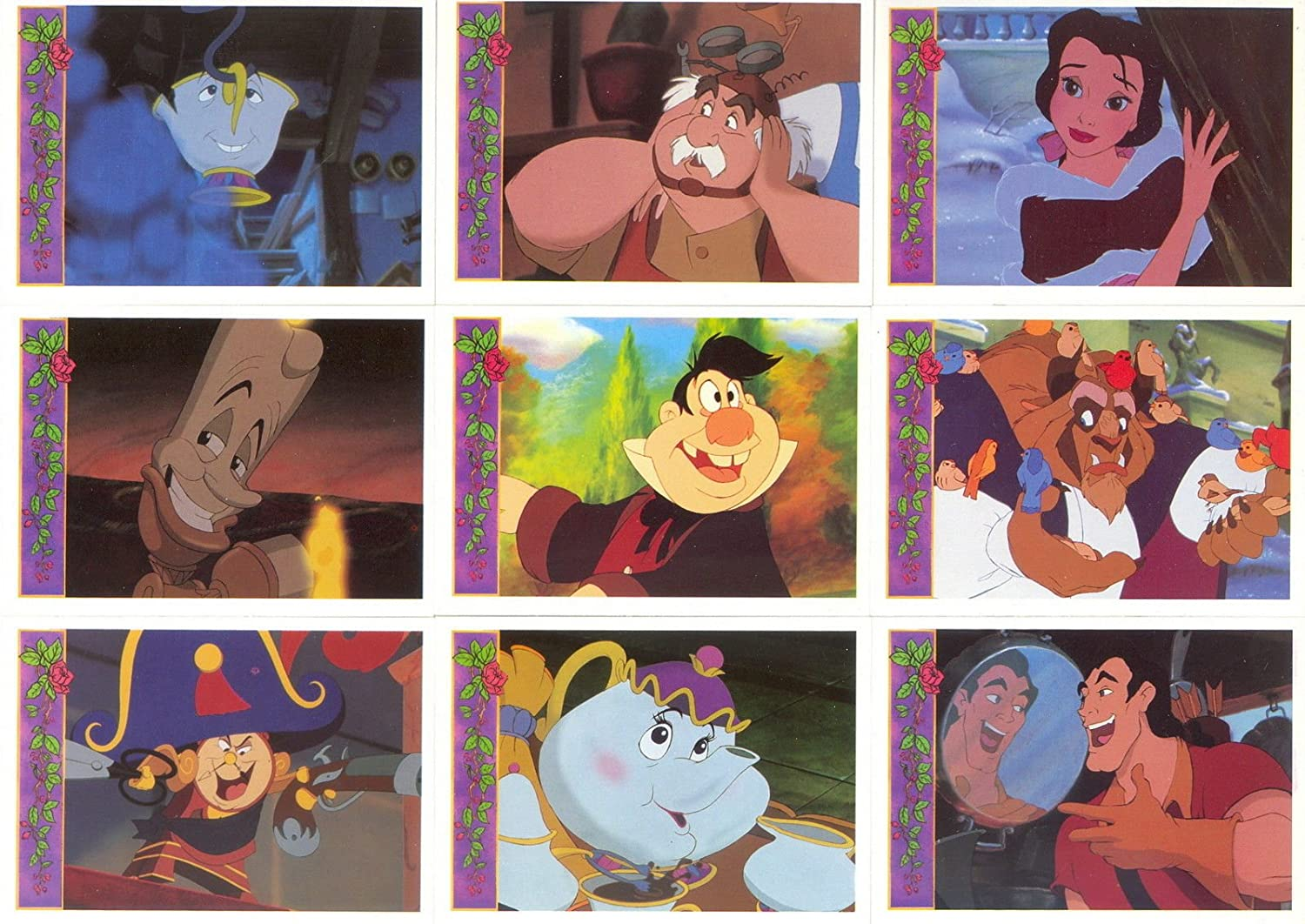 BEAUTY AND THE BEAST 1992 UPPER DECK COMPLETE BASE CARD SET OF 198 DY