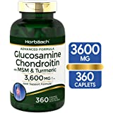 Glucosamine Chondroitin | 3600 mg | 360 Caplets | MSM and Turmeric | Advanced Formula for Joint Support | Non-GMO, Gluten Fre