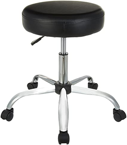 amazon com amazonbasics drafting stool black kitchen dining