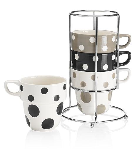 Random Spot Stacking Mugs: Amazon.co.uk: Kitchen & Home
