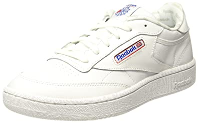 15d5c8f7f7b Reebok Boy s Club C White Vital Blue Blue Leather Sports Shoes - 6 ...