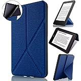 Capa Kindle 10ª Geração, WB, Auto Hibernação, Sensor Magnético Origami, Silicone Flexível, Estilo Tecido, Azul