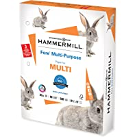Hammermill Printer Paper, Fore Multipurpose 20 lb Copy Paper, 3 hole - 1 Ream (500 Sheets) - 96 Bright, Made in the USA