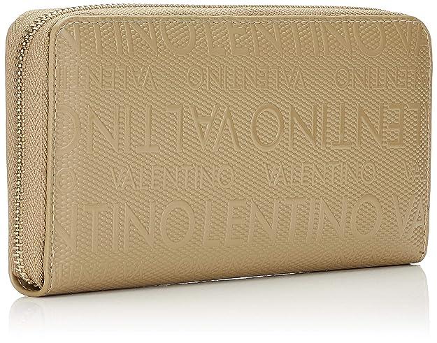 Mario Valentino VPS1OM155 - Porte-monnaie de Poliuretano Mujer, color Beige, talla 2.2x10x19 cm (B x H x T): Amazon.es: Zapatos y complementos