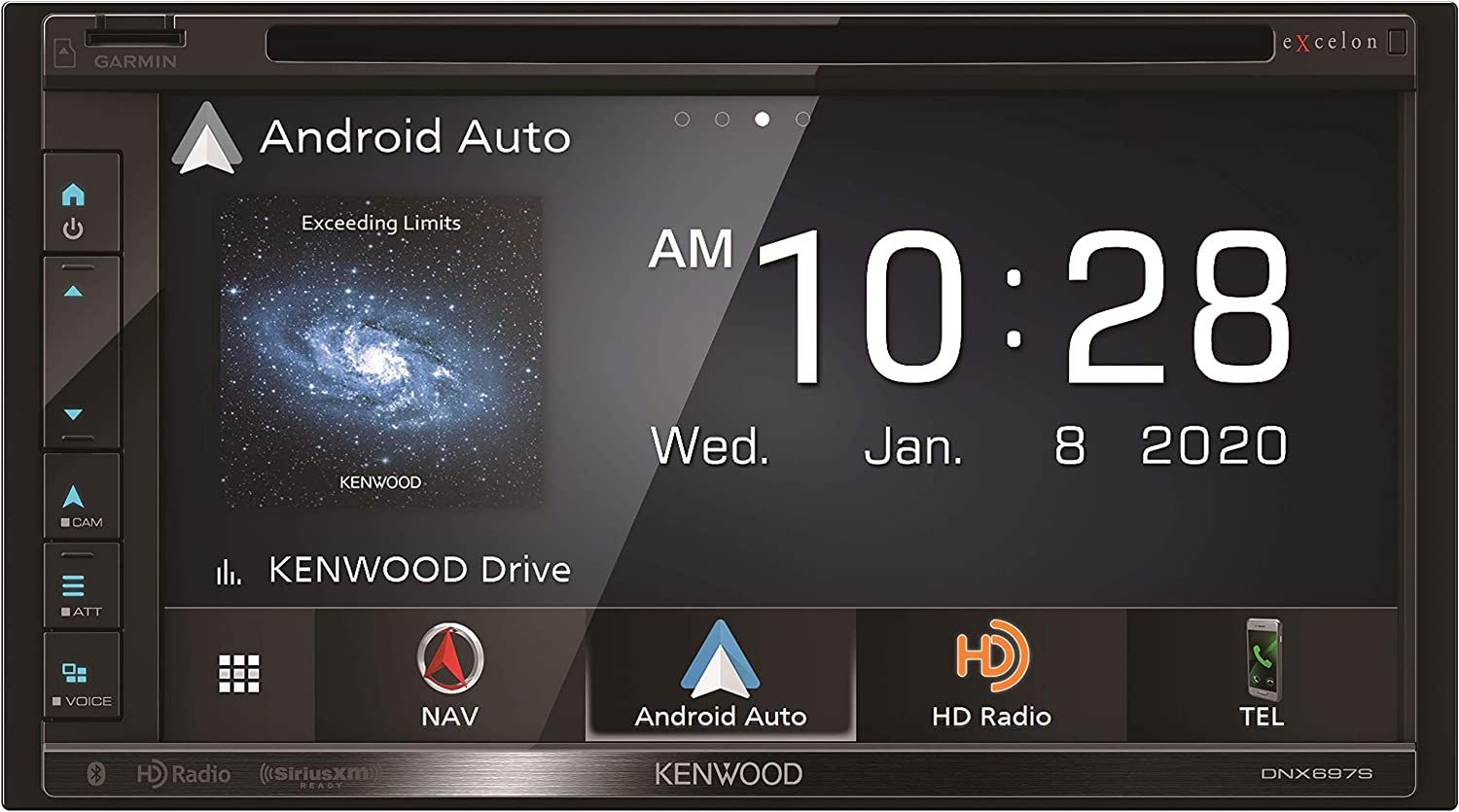 "Kenwood Excelon DNX697S 6.8"" Clear Resistive Touch Panel Navigation DVD Receiver with Bluetooth & HD Radio 