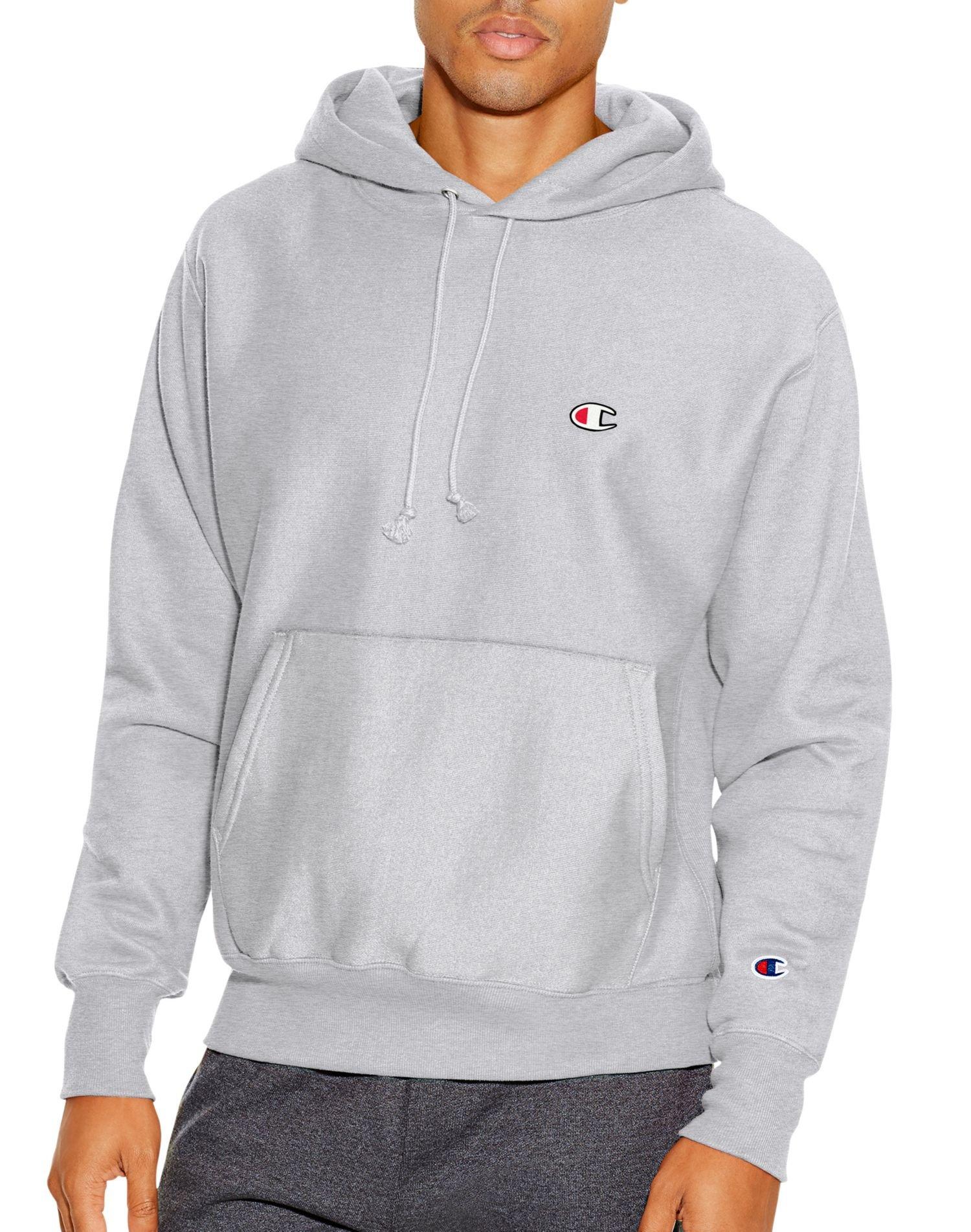 "Champion LIFE Men/'s Reverse Weave Pullover Hoodie White//Left Chest /""C/"" Logo"