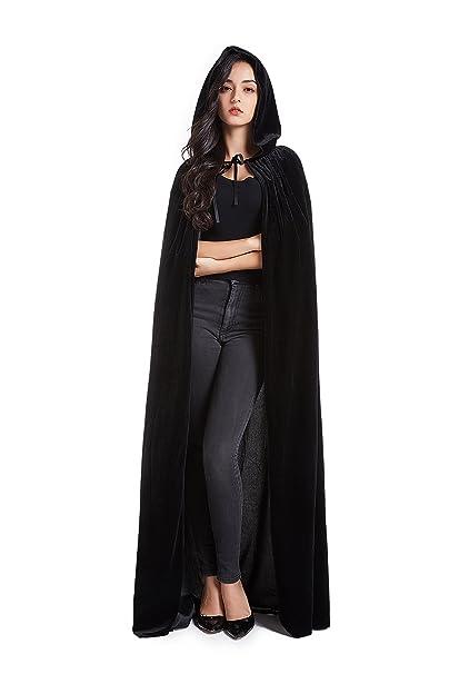 Halloween Costume Cape Hooded Velvet Cloak for Men and Womens